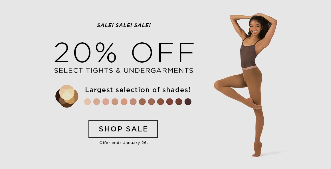 20% off tights and undergarments