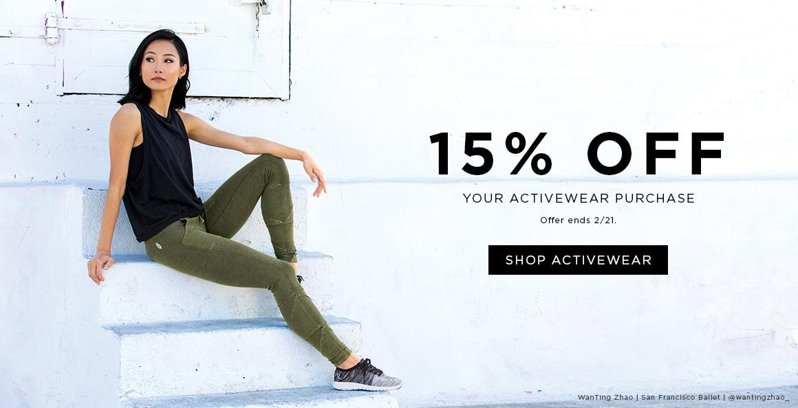 15% off Activewear