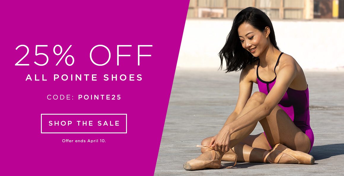 Pointe shoe sale