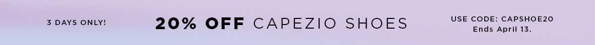 20% off Capezio shoes