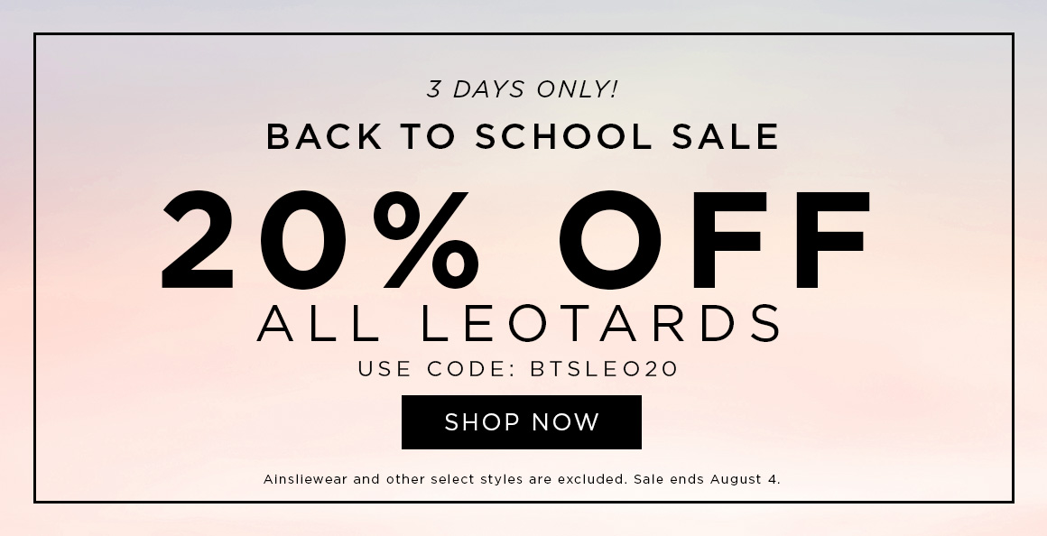 20% off Leotards
