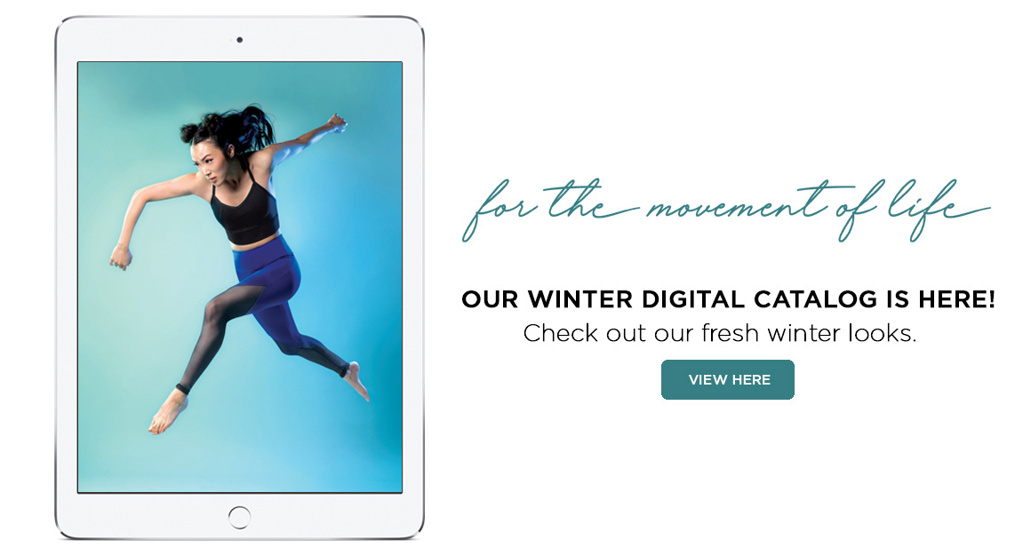 Image displaying information about the new Discount Dance winter catalog.