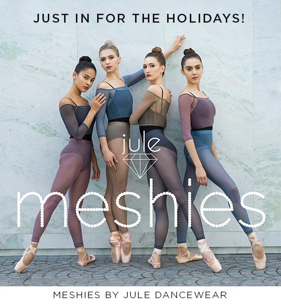 4 dancers wearing Jule Dancewear clothing