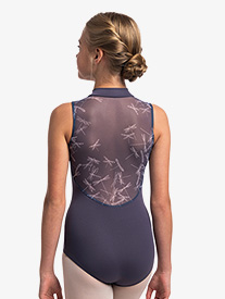 "Ainsliewear - Girls ""Dragonfly"" Zip-Front Tank Leotard"