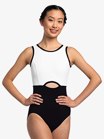 "Ainsliewear - Womens ""Holly"" Two-Tone Tank Leotard"
