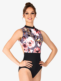 Chelsea B Dancewear - Womens Black Floral Tank Leotard