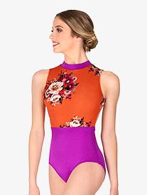 Chelsea B Dancewear - Womens Magenta Floral Tank Leotard