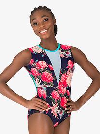 "Chelsea B Dancewear - Girls ""Blossom"" Navy V-Front Tank Leotard"