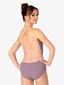 "Chelsea B Dancewear - Womens ""Trinity"" Mauve Strappy Back Camisole Leotard"
