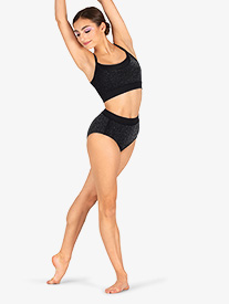 DanzNmotion - Womens Sparkle High Waist Dance Briefs