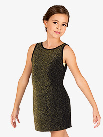 DanzNmotion - Girls Sparkle Tank Dance Dress