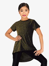 DanzNmotion - Girls Sparkle High-Low Dance Top