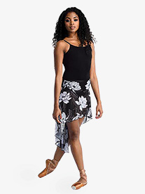 DanzNmotion - Womens Sparkle High-Low Dance Skirt