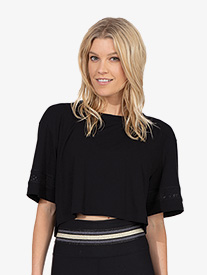 Thrive Societe - Womens Striped Crop Tee