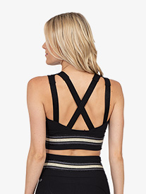 Thrive Societe - Womens Striped Crop Bra