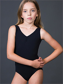 Suffolk - Girls Pinch Front Tank Leotard