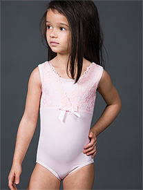 Suffolk - Girls Lace Tank Leotard