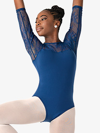 Suffolk - Adult Silver Shadow Illusion 3/4 Sleeve Leotard