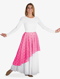 Body Wrappers - Womens Sheer Lace Worship Skirt