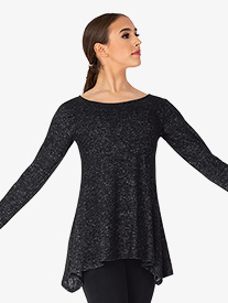 BalTogs - Womens Plus Size Long Sleeve Dance Tunic Top