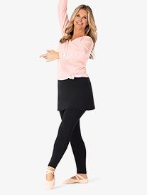 BalTogs - Womens Full-Length Mock Skirt Dance Leggings