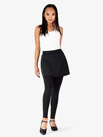 BalTogs - Womens Plus Size Full-Length Mock Skirt Dance Leggings