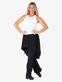 BalTogs - Womens High-Low Mock Skirt Boot Cut Dance Pants