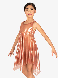 Body Wrappers - Girls Performance Shimmer Tank Overdress