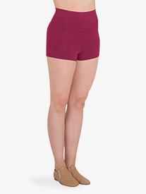 Body Wrappers - Womens High-Waist Boy-Cut Dance Shorts