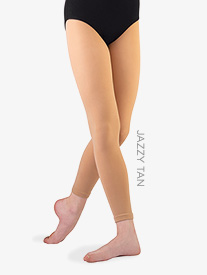 """Body Wrappers - Girls Supplex """"TotalSTRETCH"""" Footless Tights"""