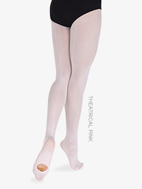 "Body Wrappers - Girls Supplex ""TotalSTRETCH"" Backseam Convertible Tights"