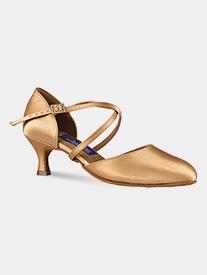 "Dance America - Womens ""Charlotte"" Crisscross Strap Ballroom Dance Shoes"