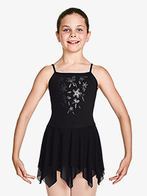"""Bloch - Girls """"Millicent"""" Metallic Print Camisole Ballet Dress"""