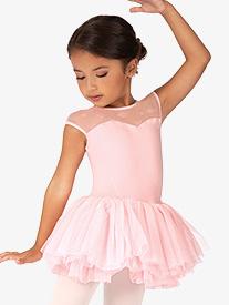 "Bloch - Girls ""Birdine"" Floral Mesh Short Sleeve Ballet Tutu Dress"