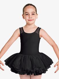 """Bloch - Girls """"Aiko"""" Floral Mesh Tank Ballet Tutu Dress"""