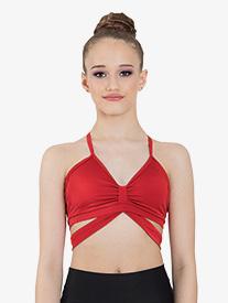 "Ilogear - Womens ""Camilla"" Ruby Crisscross Back Dance Crop Top"