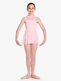"""Bloch - Girls """"Chantrell"""" Floral Mesh Waistband Pull-On Ballet Skirt"""