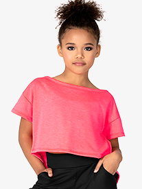 Dance Department - Child Boat Neck Crop Top