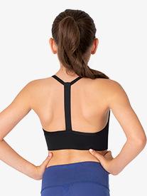 Ella - Girls Elastic Strap Camisole Workout Bra Top