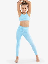 Flo Active - Girls Elastic Waistband Full Length Workout Leggings