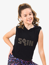 "Flo Active - Girls ""Spin"" Tank Hooded Dance Tank Top"