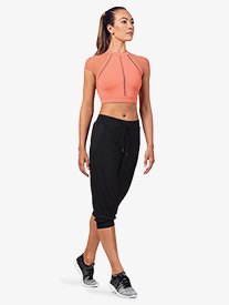 Bloch - Womens Branded Print Active Jogger Pants