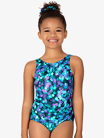 "Bloch - Girls ""Ink Spot"" Print Tank Leotard"