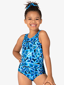 "Bloch - Girls ""Windmill"" Print Tank Leotard"