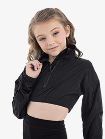 "Oh La La Dancewear - Girls ""Crew"" Crop Long Sleeve Dance Jacket"