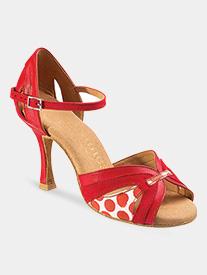 "Dance Feel - Womens ""Isabell"" 2.5"" Heel Print Latin Ballroom Dance Shoes"