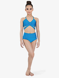 "Ilogear - Girls ""Isa"" Turquoise High Waist Dance Briefs"