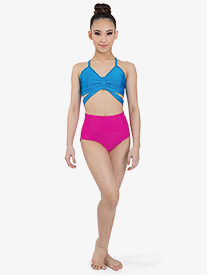 "Ilogear - Girls ""Isa"" Fuchsia High Waist Dance Briefs"
