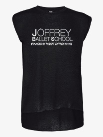 Joffrey Ballet School - Womens Flowy Short Sleeve Muscle Dance Tee