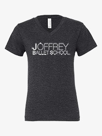 Joffrey Ballet School - Youth Jersey V-Front Short Sleeve Dance Tee